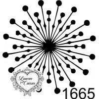 Carimbo Mandala Círculos Ref 1665 3Cmx3C..