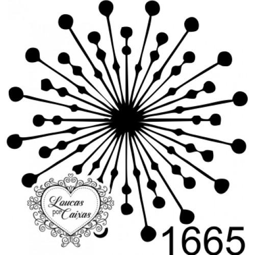 Carimbo Mandala Círculos Ref 1665 3Cmx3Cm