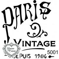 Carimbo Paris Vintage 7 X 6,5 Cm..