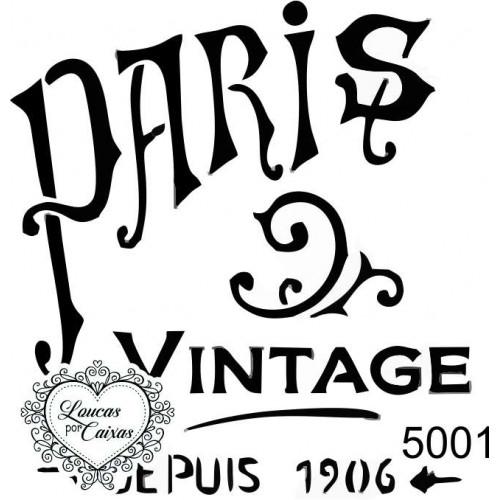 Carimbo Paris Vintage 7 X 6,5 Cm
