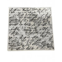 Placa para relevo - Manuscrito..