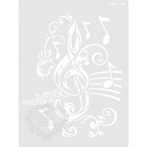 Stencil Clave de Sol - 20x15cm - Ref. 39