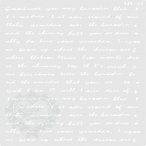 Stencil Fundo Texto - 16x16cm - Ref. 44