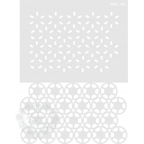 Stencil Estampa Círculos - 20x15cm - Ref. 46