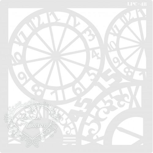 Stencil Relógios - 16x16cm - Ref. 48