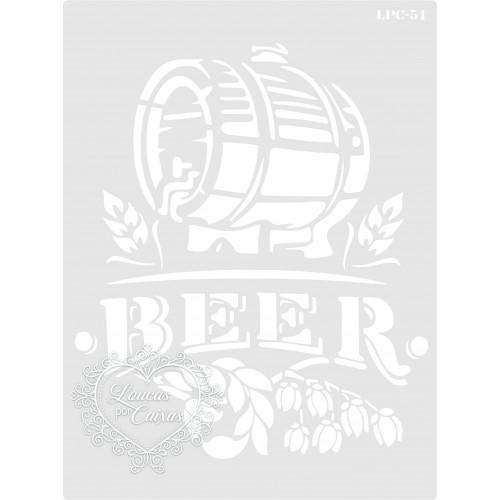 Stencil Barril Beer - 20x15cm - Ref. 51