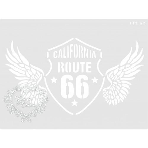 Stencil Route 66 Asas - 20x15cm - Ref. 52