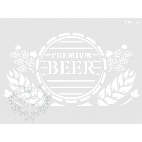 Stencil Premium Beer - 20x15cm - Ref. 53