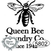 Carimbo Abelha Queen Bee G - 4x3,5cm - R..