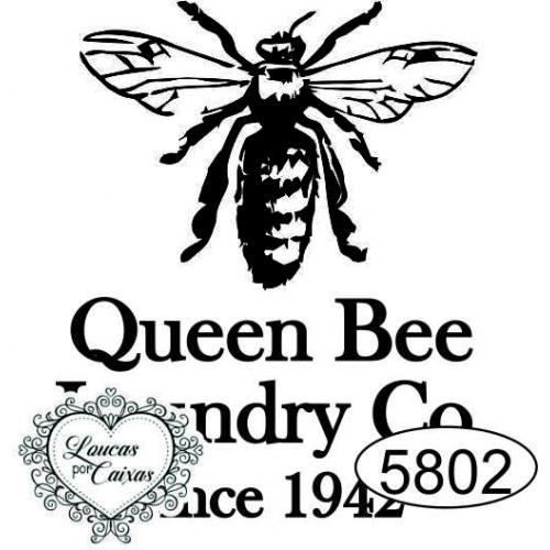Carimbo Abelha Queen Bee G - 4x3,5cm - Ref. 5802