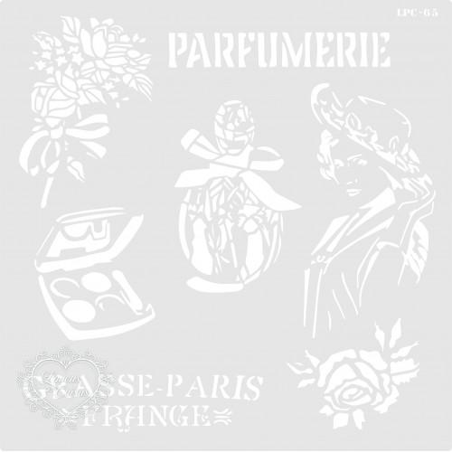 Stencil Parfumerie - 24,5x24,5cm - Ref. 65