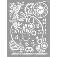 Stencil Relógios e Arabescos - 20x15cm -..