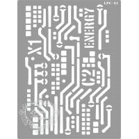 Stencil Placa Energy - 20x15cm - Ref. 81..