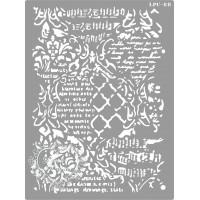Stencil Mixed Media Textos e Arabescos -..