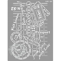 Stencil Travel Tickets - 20x15cm - Ref. ..