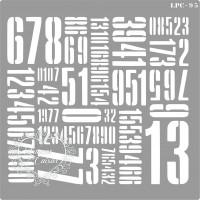 Stencil Estampa Números - 16x16cm - Ref...