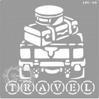 Stencil Malas Travel - 16x16cm - Ref. 98..