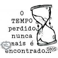 Carimbo O Tempo Perdido - 6,5 x 6cm - Re..