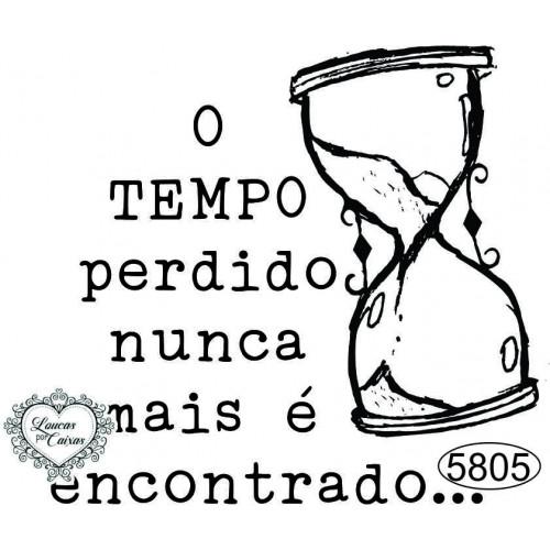 Carimbo O Tempo Perdido - 6,5 x 6cm - Ref. 5805