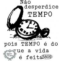 Carimbo Não Desperdice Tempo - 7 x 6,5cm..