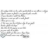 Carimbo Texto Mário Quintana - 10x6cm - ..