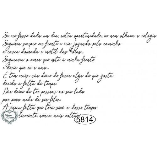 Carimbo Texto Mário Quintana - 10x6cm - Ref. 5814