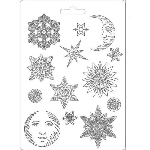 Molde de Plástico - Soft Mould A4 Snowflakes