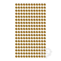 Cartela Adesivo Strass 6mm - Ouro..