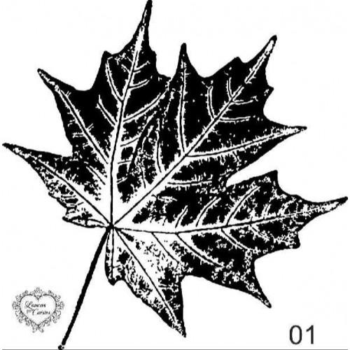 Carimbo Folha De Patano Ref 01 - 6.6 X 6.6  Cm