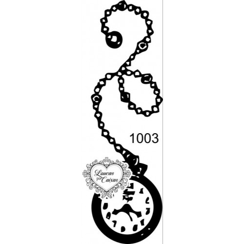 Carimbo Relógio Antigo Ref 1003 - Tam 2.7 X 9.0 Cm