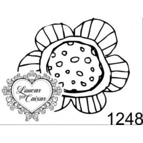 Carimbo Flor P Ref 1248 - Tam 3.3 X 2.9 Cm