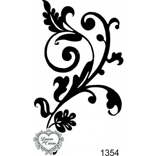 Carimbo Arabesco Ref 1354 - 5.5 X 9 Cm