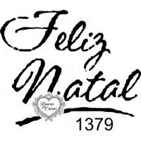 Carimbo Feliz Natal Ref 1379 - 4 X 3.4 C..