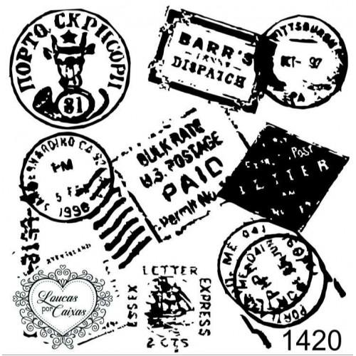 Carimbo Fundo Selos Ref 1420 - 6,2 X 6,2 Cm