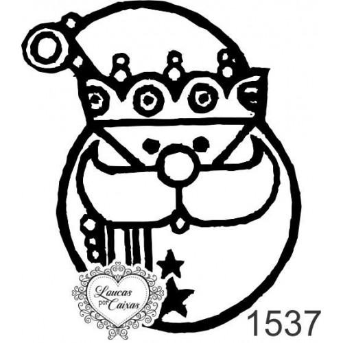 Carimbo Papai Noel Estilizado - 4 X 5Cm - Ref. 1537