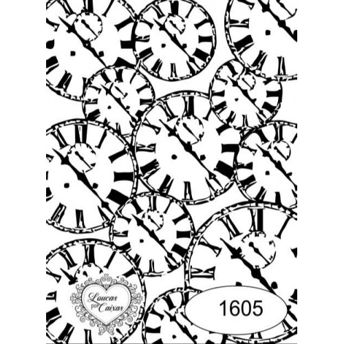 Carimbo Fundo Relógios Ref 1605 - Tam 6.1 X 8.5 Cm