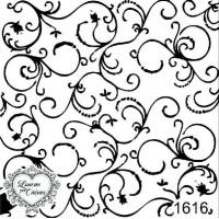 Carimbo Fundo Arabescos Ref 1616..
