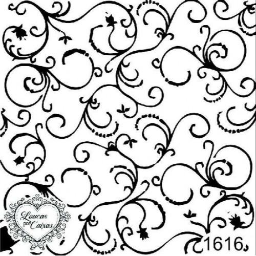 Carimbo Fundo Arabescos Ref 1616
