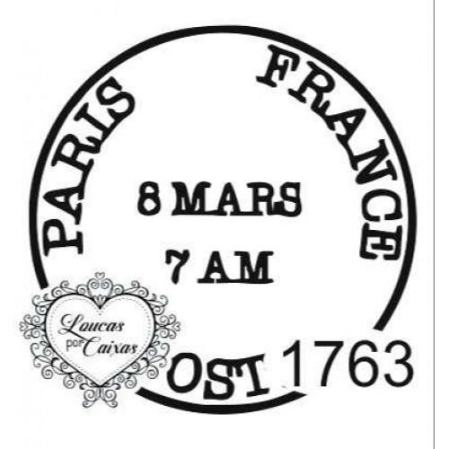 Carimbo Selo Paris Ref 1763