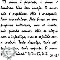 Carimbo Texto Ref 2037 - 7.2 X 7.5 Cm..