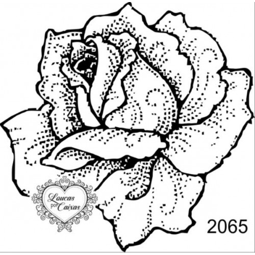 Carimbo Flor Ref 2065 Tam 7 X 7 Cm