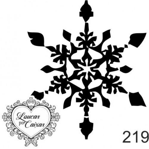 Carimbo Natal Floco Neve Ref 219 - 4.6 X 4.6 Cm