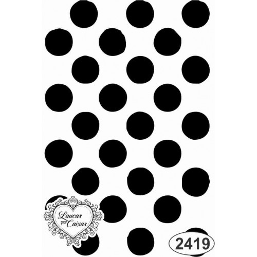 Carimbo Fundo Bolas - 5 X 7,5 Cm - Ref. 2419