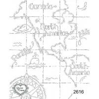 Carimbo Mapa Ref 2616 - Tam 9 X 11.5 Cm..