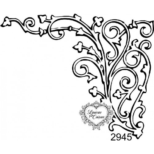 Carimbo Cantoneira Arabescos - 8 X 6,5 Cm - Ref. 2945