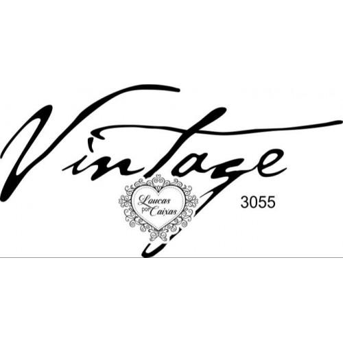 Carimbo Vintage Ref 3055- 8 X 4 Cm