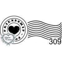 Carimbo Selo Coração Ref 309..