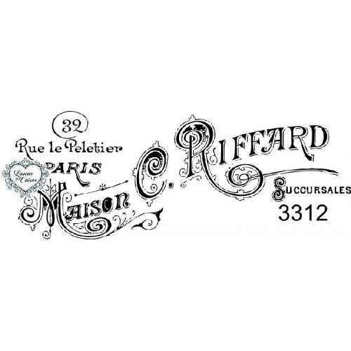Carimbo Maison C. Riffard - Ref 3312 - 8 Cm X 3Cm