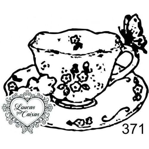 Carimbo Xícara Ref 371 - Tam 5.3 X 4.3 Cm