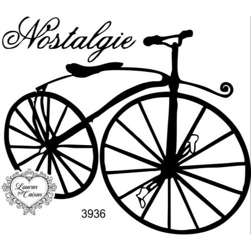 Carimbo Bicicleta Vintage Ref 3936 - 8 X 7 Cm